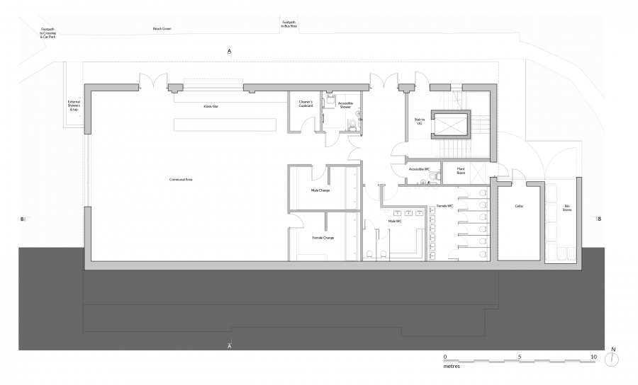 1920 P100 Proposed Lower Ground Floor Plan